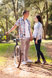 Girl with boyfriend Royalty Free Stock Photo