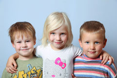 Girl and boys Royalty Free Stock Photos