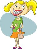 Girl with Braces. This is a girl with braces Stock Images