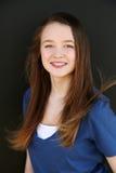Girl with braces Stock Photo