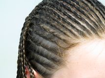 Girl with braids Stock Photo