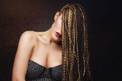 Girl with braids Stock Photography