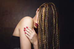 Girl with braids Royalty Free Stock Image