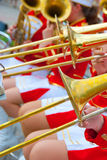 Girl Brass Band Stock Image