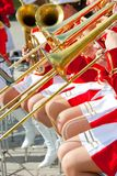 Girl Brass Band Royalty Free Stock Images