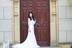 Girl bride in wedding dress Stock Photography