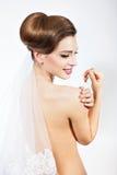 Girl bride wedding dress ready to wear. Stock Photography