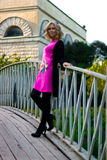 Girl on the bridge Royalty Free Stock Image