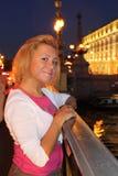 Girl on the Bridge Stock Photo