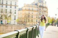 Girl on a bridge Stock Photography