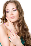 A girl with bright makeup Stock Image