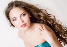 A girl with bright makeup Royalty Free Stock Photo