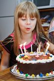 Girl Brithday Cake Candles Stock Images