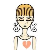 Girl with broken heart Stock Photos
