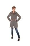 Girl in brown coat. Royalty Free Stock Photo