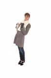 Girl in brown coat. Royalty Free Stock Photos