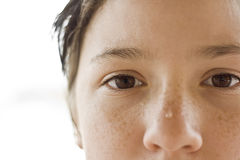 Girl with brown eyes Stock Images