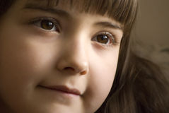 Girl with brown eyes Stock Photo