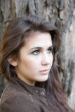 Girl with brown eyes Royalty Free Stock Photo
