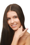 Girl with brown hair Stock Photo