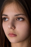 The girl Brunet crying Stock Images