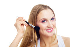 Girl with a brush Stock Photography