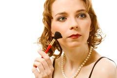 Girl with brush Stock Photo