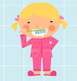 A girl brushing her tooth Royalty Free Stock Photo