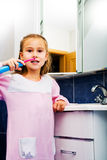 Girl brushing teeth 1 Stock Photo