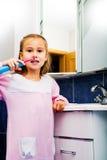 Girl brushing teeth 1 Stock Photo