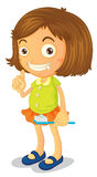 A girl brushing teeth Royalty Free Stock Photos