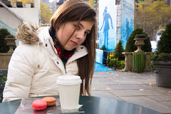Girl in Bryant Park Stock Image
