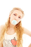 Girl with bubble gum Royalty Free Stock Photography