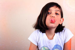 Girl with Bubble Gum Royalty Free Stock Image