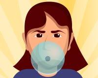 Girl bubble gum concept background, cartoon style vector illustration