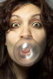 Girl with Bubblegum Royalty Free Stock Images