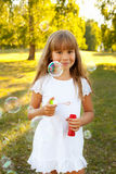 Girl with bubbles Royalty Free Stock Photo