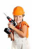 Girl builder Stock Photography