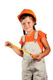 Girl builder Royalty Free Stock Photos