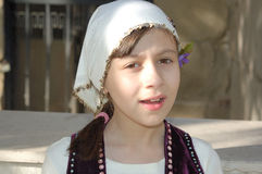 Girl in Bulgarian clothes Stock Photos
