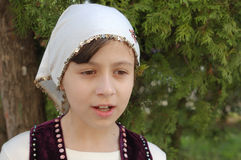 Girl in Bulgarian clothes Royalty Free Stock Photo