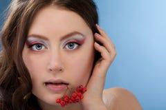 Girl bullfinch Royalty Free Stock Photography