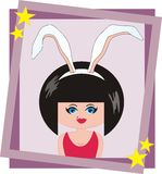 The girl-bunny Stock Image