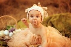 Girl-bunny Stock Image