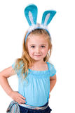Girl with Bunny Ears Stock Images