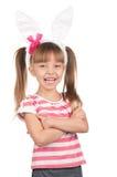 Girl with bunny ears Stock Photos