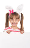 Girl with bunny ears royalty free stock photography