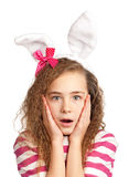 Girl with bunny ears Stock Photo