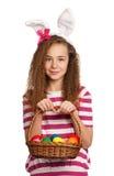 Girl with bunny ears Stock Image
