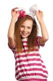 Girl with bunny ears Stock Photography